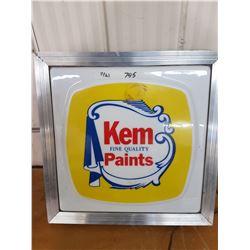 Kem Paint Sign ( Lightup)