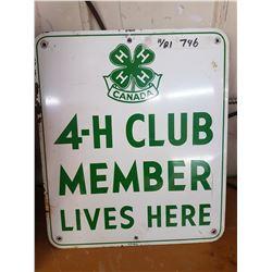 4 H Sign