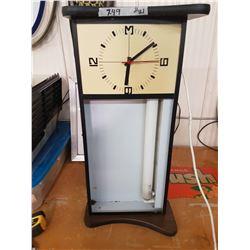Rectangular Orange Crush Clock (Lightup)