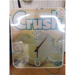 Square Orange Crush Clock (Lightup)