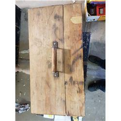 "Wooden Tool Box 12"" X 24"" X 17"""