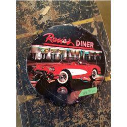 Rosies Diner Bottle Cap Sign