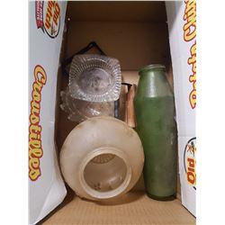 Light Globe & Bottle & Misc. Items