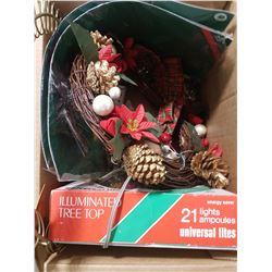 Tree Star, Wreath & Cord Holder
