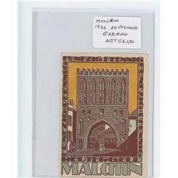 German Notgeld. Malchin 1922 50 Pfennig. AU.