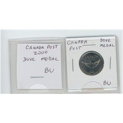 Canada Post 2000 Dove medal. BU.