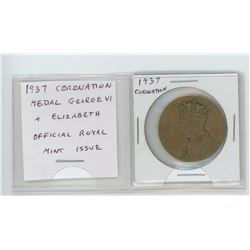 1937 Coronation medal of George VI & Elizabeth. Official Royal Mint issue.