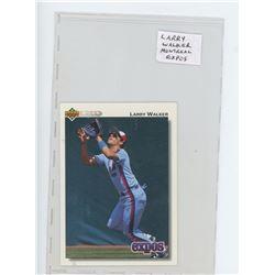 Larry Walker, Montreal Expos MLB card. 1991 Upper Deck. Unc.