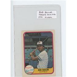 Bob Bailor, Toronto Blue Jays MLB card. 1981 Filler. EF.