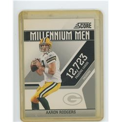 Aaron Rodgers NFL Football card. Green Bay Packers. 2011 Score. Unc.