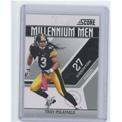 Troy Polamalu NFL Football card. Pittsburgh Steelers. 2011 Score. Unc.