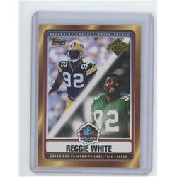 Reggie White NFL Football card. Green Bay Packers & Philadelphia Eagles Hall of Fame Induction. 2006
