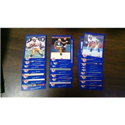 Lot of 24 Winnipeg Blue Bombers CFL cards. 1991 Jogo. Includes Danny McManus, Robert Mimbs, Greg Bat