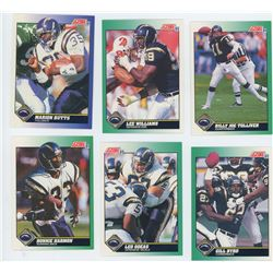 Lot of 6 San Diego Chargers NFL cards. Includes QB Billy Joe Tolliver. All Unc.