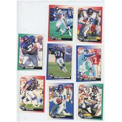 Lot of 8 Minnesota Vikings NFL cards. Includes D.J. Dozier & Chris Doleman. All Unc.