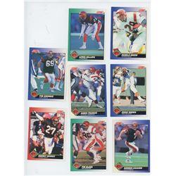 Lot of 8 Cincinnati Bengals NFL cards. Includes Boomer Esiason. All Unc.