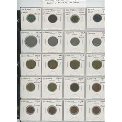 Lot of 20 different German coins including 1874 5 pfennig, Weimar Republic, Third Reich and Federal