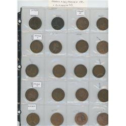 Lot of 20 different British pennies: 2 Victoria, 2 Edward VII, 8 George V, 4 George VI, 4 Elizabeth.