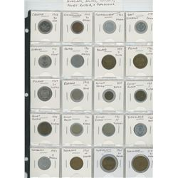 Lot of 20 different Eastern European & Russian coins from Croatia, Czechoslovakia, East Germany, Hun