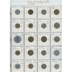Lot of 20 different Asian coins from China, Cyprus, Hong Kong, India, Indonesia, Japan, South Korea,