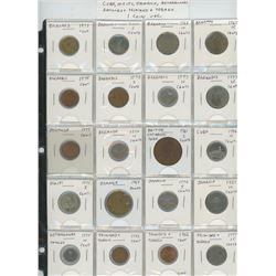 Lot of 20 different Caribbean coins from Bahamas, Barbados, Bermuda, British Caribbean Territories,