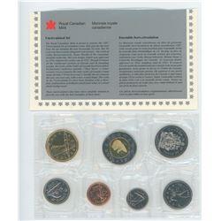 1998W 7-coin Proof Like Set. Winnipeg Mint issue.