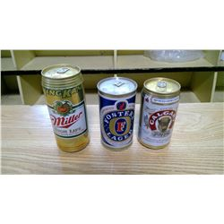 3 FULL BEER CANS includes King can