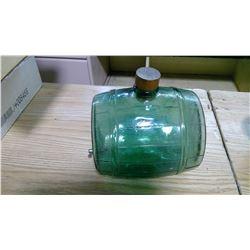 GREEN GLASS JUG DECANTER