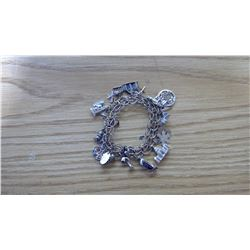 CHARM BRACELET WITH VARIOUS CHARMS