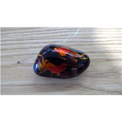ROCK WITH PAINTED ON CELESTIAL EYED GOLD FISH