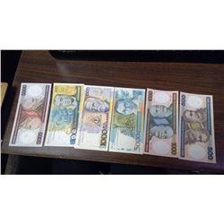 6 BRAZILIAN BILLS