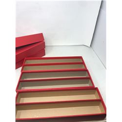 """(3) 14"""" storage boxes for 2x2 coin holders- double row"""