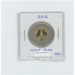 2012 wolf cubs young wildlife series toonie