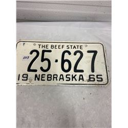 1965 Nebraska Licence Plate