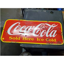 1947 COCA-COLA SIGN (TOUCHED UP)