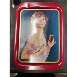 1974 COCA-COLA TRAY (1927 CALENDAR GIRL)