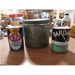 3 Antique Automotive Tins
