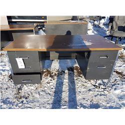 5 Drawer Metal Desk