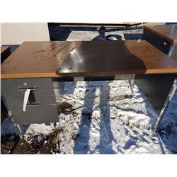 2 Drawer Metal Desk