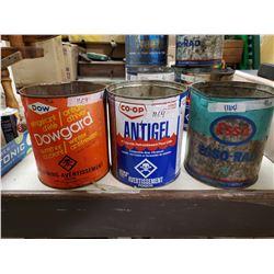 3 Antique Antifreeze Tins