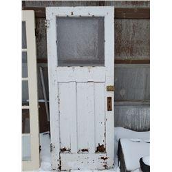 WOODEN EXTERIOR DOOR W/ LOCK
