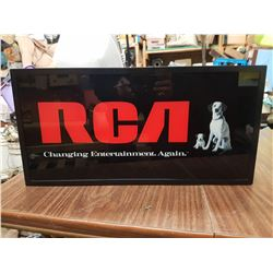 RCA Lighted Sign