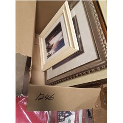 Lot Pictures & Oranment Storage & Picture Frames