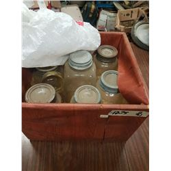 Wood Box of Sealers & Lids
