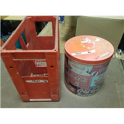 Coca - Cola Crate and Tin