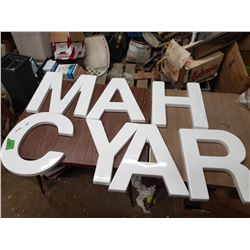 Sign Lettering ( Plastic)