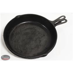 """LOT OF 2 CAST IRON 12"""" FRYING PANS"""