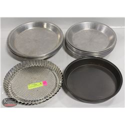 LOT OF 22 ASSORTED SIZE PIE PANS