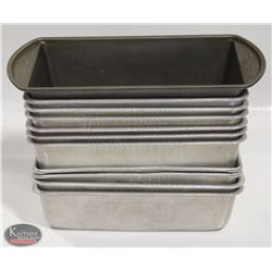 LOT OF 10 ASSORTED LOAF PANS