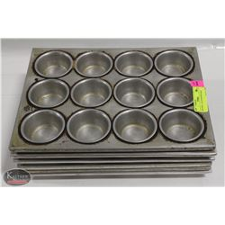 LOT OF 6 - 12 CUP MUFFIN PANS